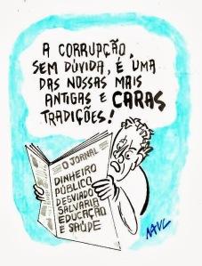 Charge: Raul Motta http://portfolioraulmotta.blogspot.com.br/search/label/corrup%C3%A7%C3%A3o